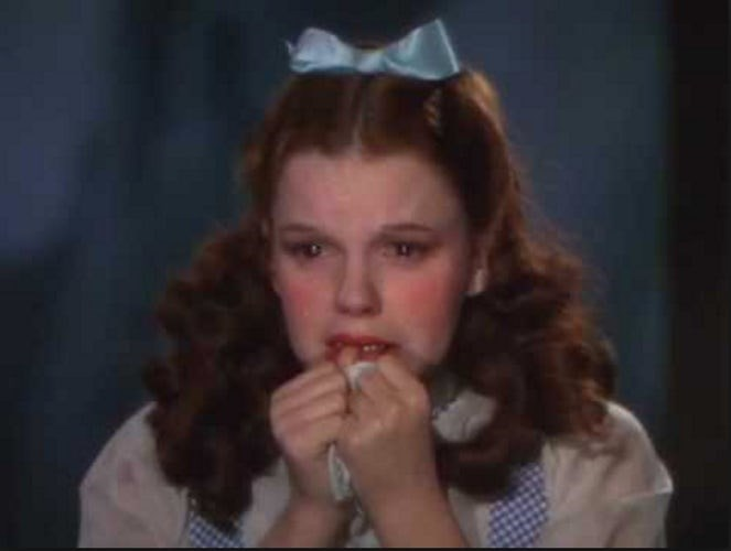 The white in the dress worn by Dorothy was actually pale pink, because it showed up better as white in Technicolor.