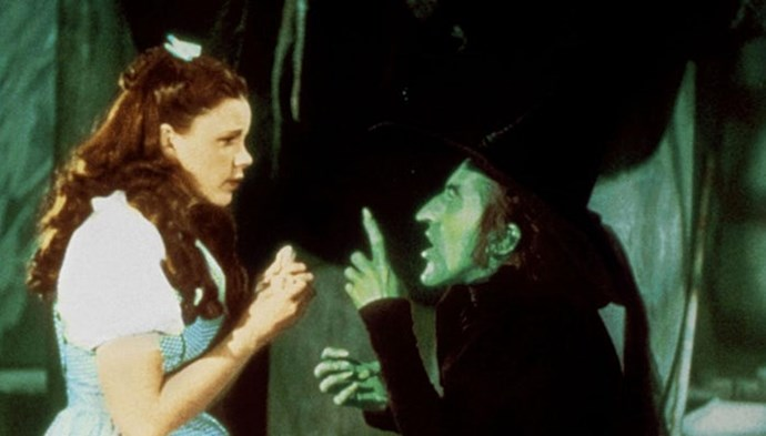 No wonder she was cranky! Margaret Hamilton, who played the Wicked Witch, wore copper-based green makeup that was dangerous to ingest, so she only could consume liquids during filming.