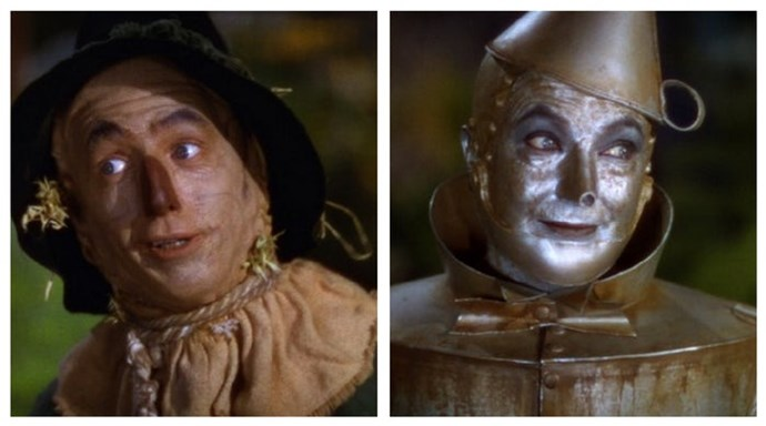She wasn't the only one hurt; the Tin Man's aluminium-based makeup caused an infection in actor Jack Haley's eyes, and Scarecrow actor Ray Bolger's face was permanently scarred from wearing prosthetics.
