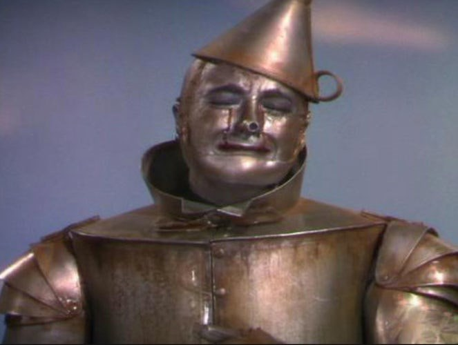 "When the Tin Man cried, his ""tears"" were actually made from chocolate sauce."