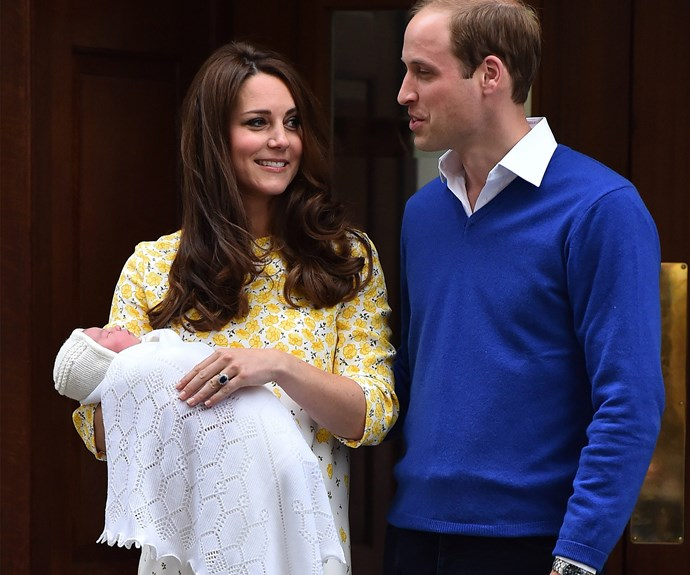 The Duke and Duchess of Cambridge with Princess Charlotte, born May 2, 2015.
