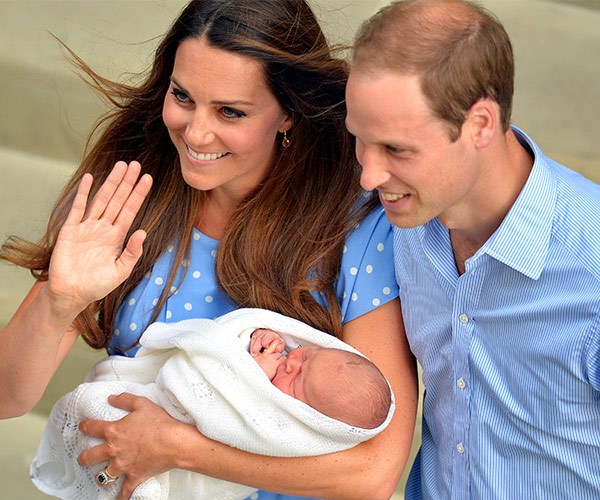 Back to the very beginning! Prince George when he was just a few hours old.