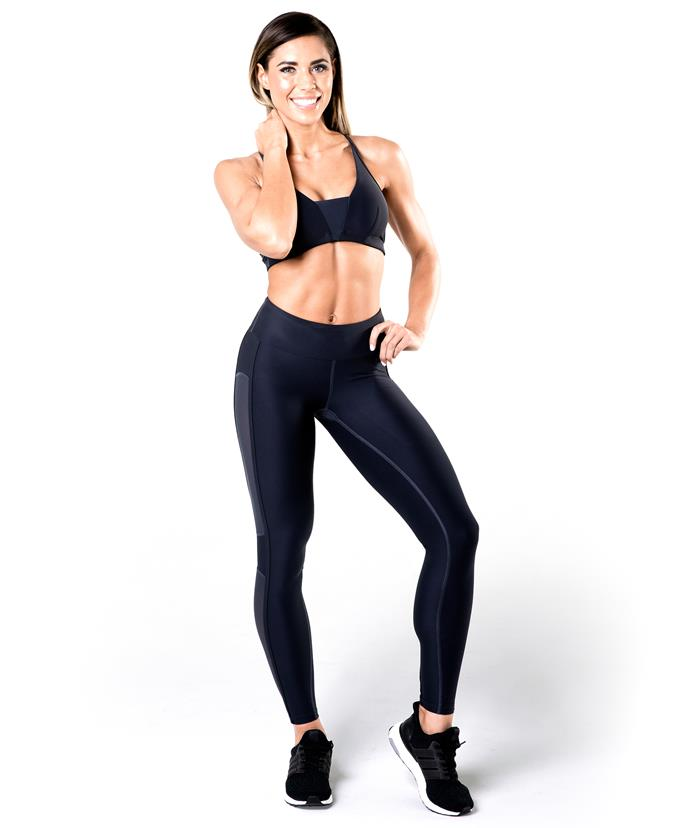 Kelsey Wells, one of the SWEAT trainers, focuses on living an active life and being healthy.