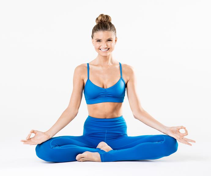 Sjana's focus is on the body and mind, working as a SWEAT trainer on their yoga program.