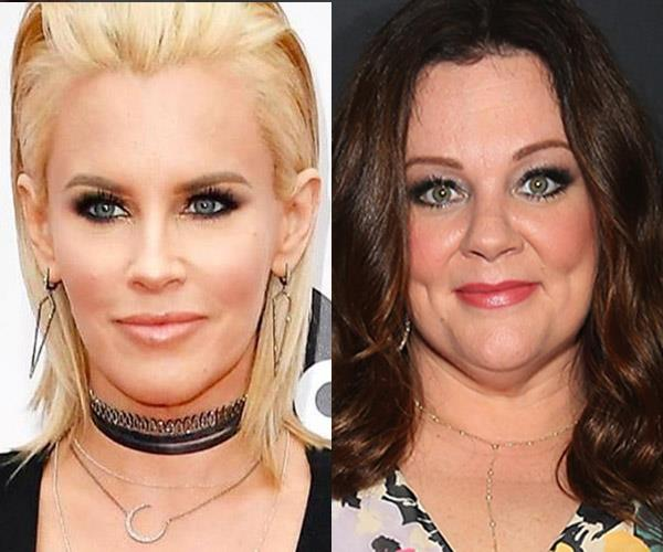 **Jenny McCarthy and Melissa McCarthy**  The two are cousins. In fact, Melissa made her acting debut in 1997 on Jenny's TV show, *The Jenny McCarthy Show*.