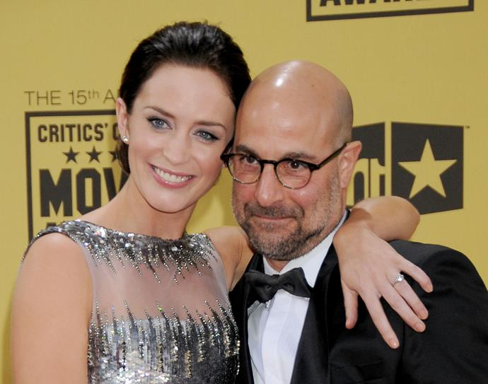 **Emily Blunt and Stanley Tucci**  Tucci is married to Blunt's sister, Felicity, making these two actors, who starred together in *The Devil Wears Prada*, in-laws.