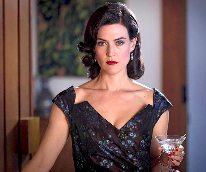 Jenni Baird as the evil Regina in the Foxtel hit drama A Place To Call Home.