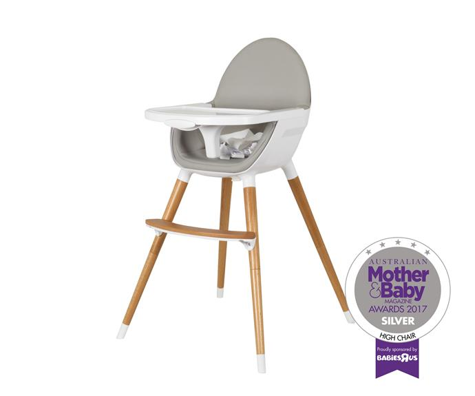 The Pod Timber High Chair in Natural by Childcare.