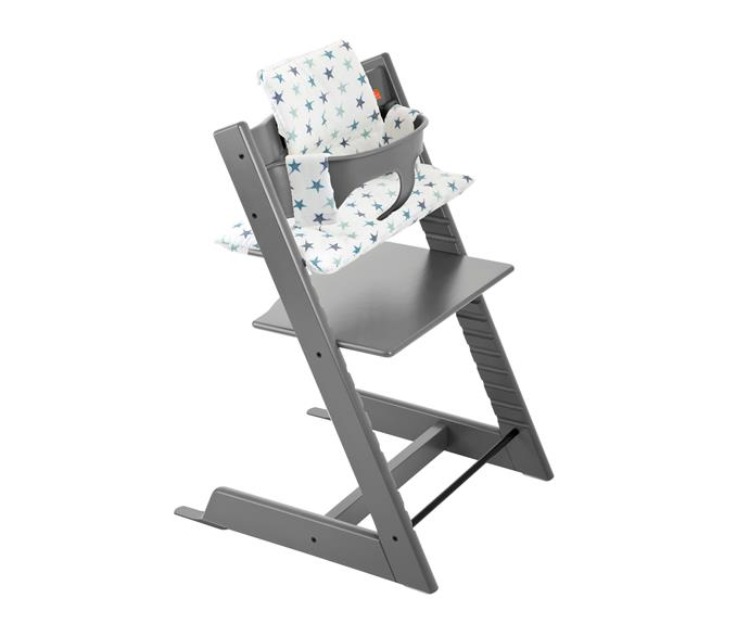 The Stokke Tripp Trapp highchair.