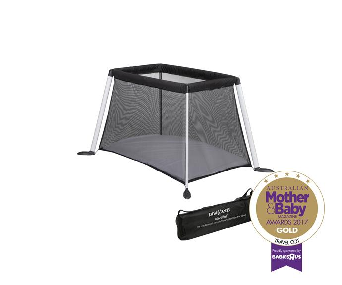 The Phil & Ted's Traveller Cot makes travelling with bub easy.