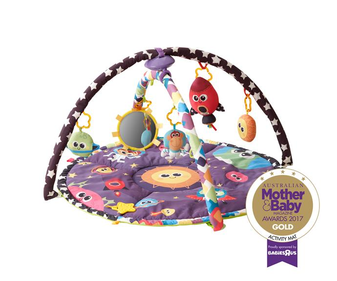 """The [Tomy Lamaze Space Symphony Gym](https://www.onlinetoys.com.au/lamaze-space-symphony-motion-gym.html