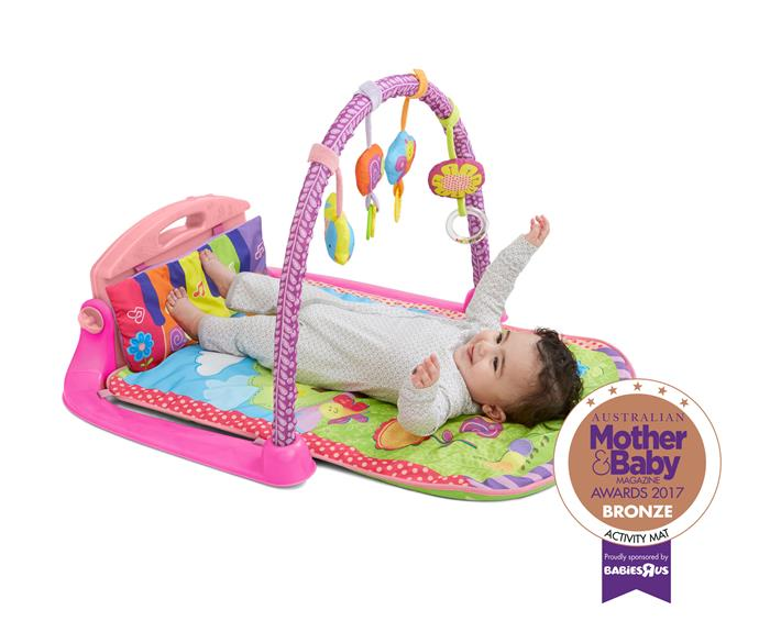 """The [Babies""""r""""Us Bruin Garden Patch Kickin' Keys Gym](https://www.toysrus.com.au/bruin-garden-patch-kickin-keys-gym/
