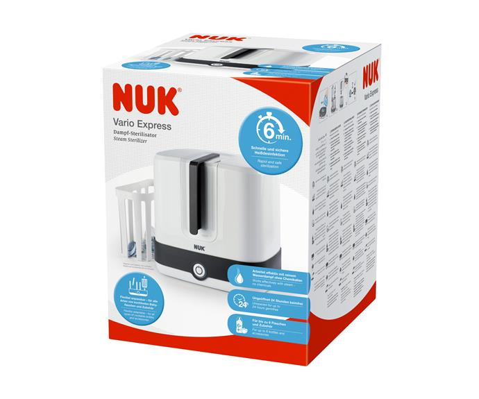 "[NUK Vario Steam Steriliser](https://www.nuk.com.au/vario-express-steam-steriliser.html|target=""_blank""