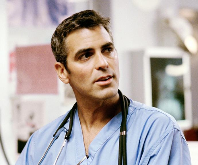 George Clooney as heartthrob, Dr. Doug Ross!