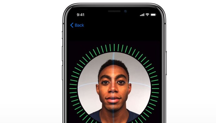 Face ID in action.