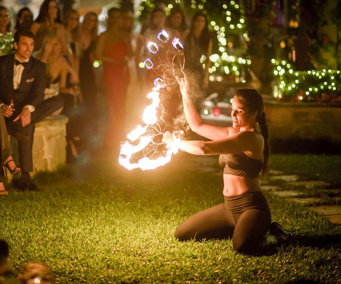 Elora's fire-twirling brought big attention