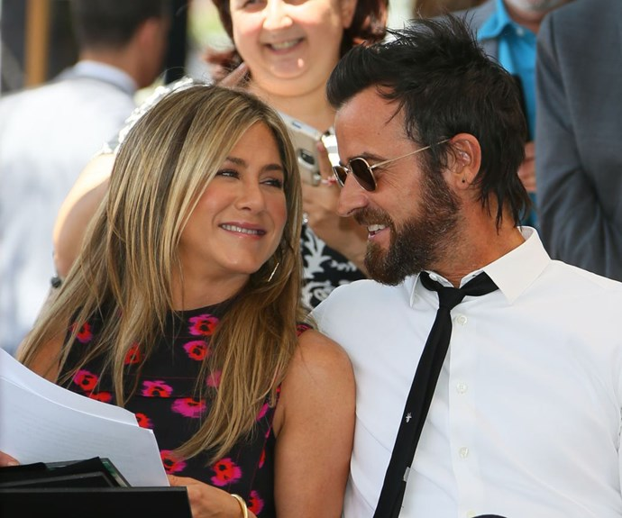Jen and Justin, all loved up at their last public appearance back in July 2017 for Jason Bateman's induction ceremony for a star on the Hollywood Walk of Fame.