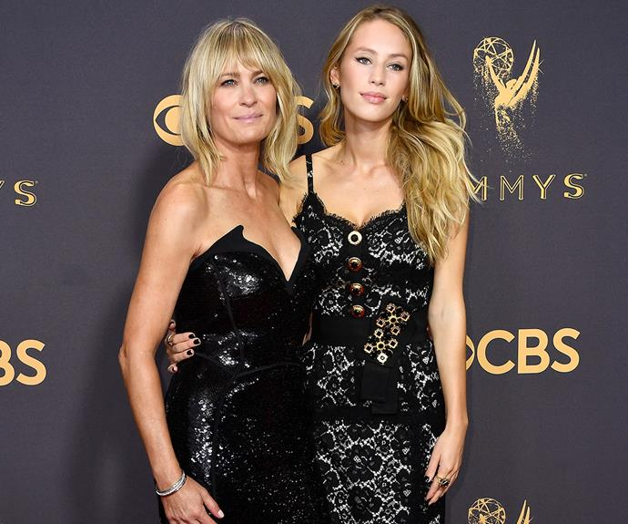 "**Robin Wright** took her gorgeous 26-year-old daughter, **Dylan Penn** (who Robin shares with ex-husband **Sean Penn**) as her date to the 69th Primetime Emmy Awards. When asked by *ET* about hanging out with her mum for the big night, Dylan said: ""Happy to be here, be her date... She's the best!"" Too cute."