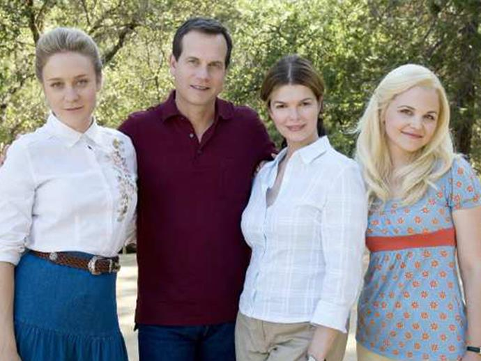 Bill Henrickson and his three wives in Big Love