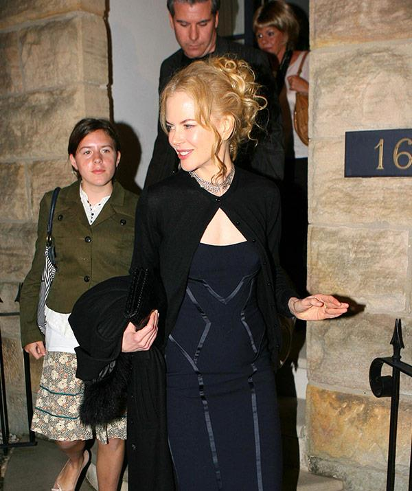 Nicole leaves her parents' Greenwich home in Sydney with Bella for a pre-wedding dinner in June, 2006.