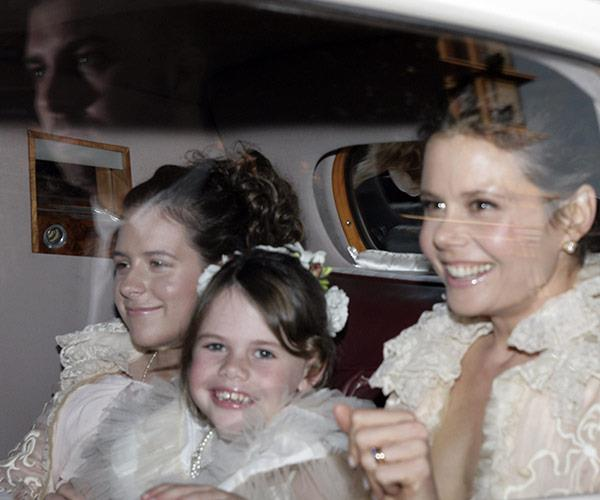 Bella and her cousin and aunt Antonia Kidman were in Nicole's bridal party.