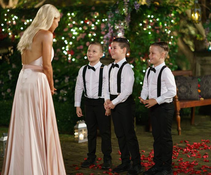 Sophie was surprised to meet Sam's nephews.