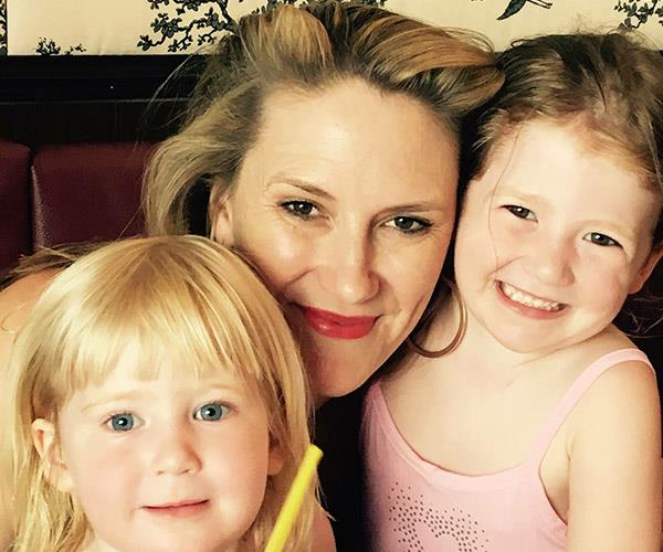 Caitlin with Lilith and Willow before her diagnosis.
