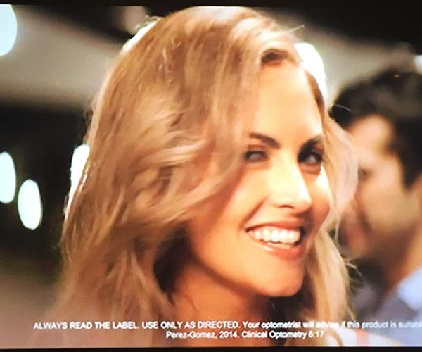 The Perth beauty seriously lit up the screen on the commercial.