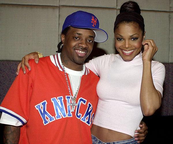 Hip hop's power couple Janet and Jermaine back in 2001.