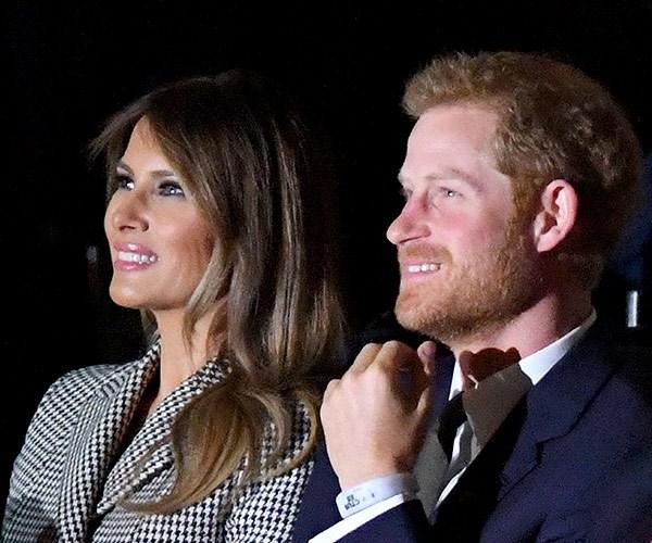 Harry was seated next to Melania Trump.