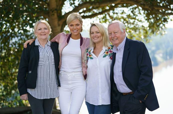 L-R: Sophie's mum, Sandi; Sophie; sister Lucy and dad, Andrew