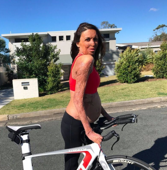 """When you're trying to look cool riding your bike, but you're also pregnant and can't fit your belly behind the handlebars!"" Turia cracks a joke while showing the world another shot of her growing bump on Instagram."
