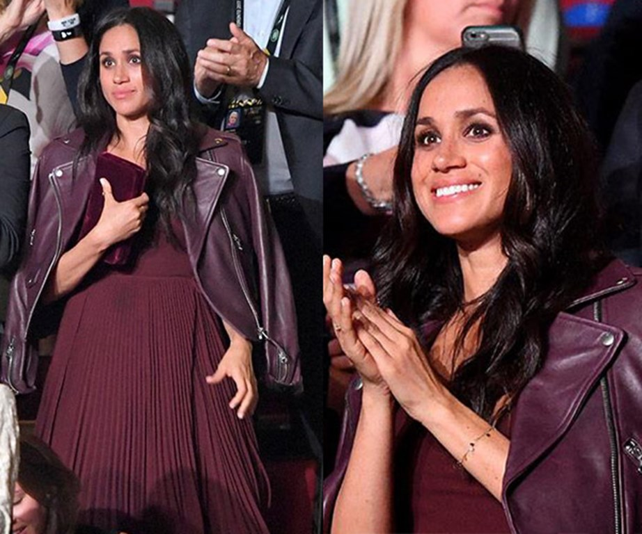 Meghan's the ultimate style-setter, with this Aritizia Beaune dress selling out within hours of her being photographed wearing it.