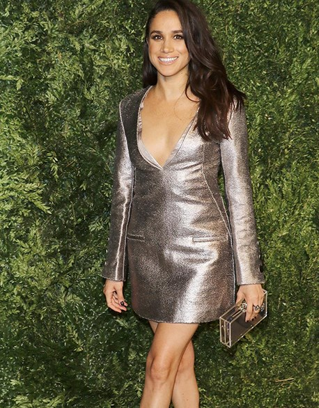 This cute metallic mini is by one of Meghan's favourite designers Misha Nonoo. She wore shimmering number to the 12th annual CFDA/Vogue Fashion Fund Awards in November 2015.