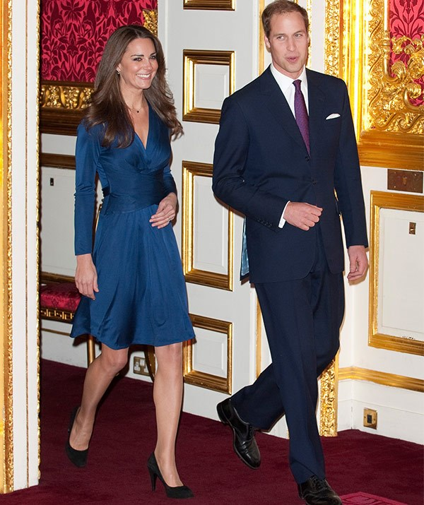 """The bride-to-be sparked off the """"Kate Effect"""" with her now iconic Issa-designed blue dress."""