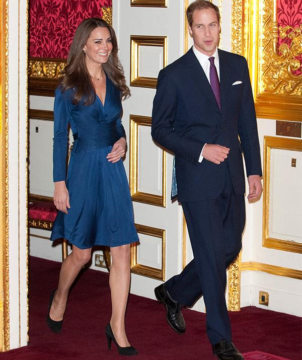 "The bride-to-be sparked off the ""Kate Effect"" with her now iconic Issa-designed blue dress."