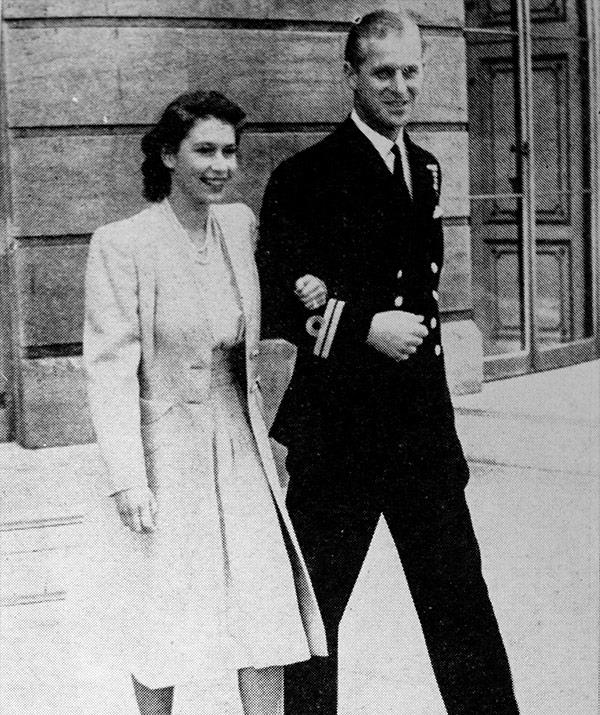The couple are said to have become betrothed in the summer of 1946.
