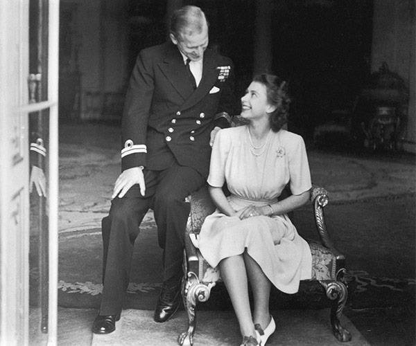 Princess Elizabeth and Lieutenant Philip Mountbatten couldn't have been happier announcing their engagement.
