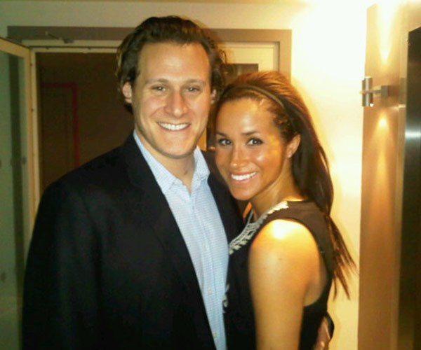 """""""Me and my lady in London,"""" Trevor penned back in 2010 next to this snap. The film producer married Meghan in 2011."""