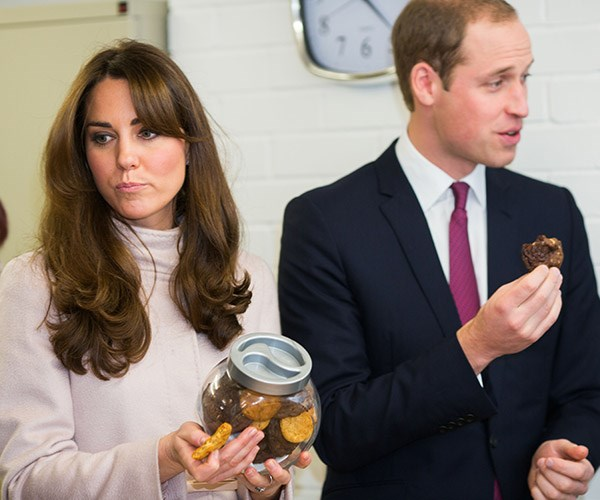 Prince William reveals that The Duchess has tried eating ginger nut biscuits to combat her severe morning sickness.