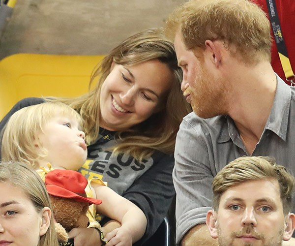 Funny faces with the prince... It's all too cute.