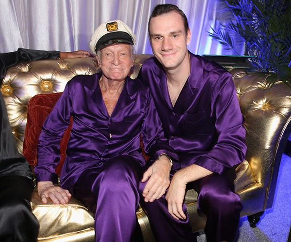 Hef with his son, 26-year-old son Cooper.