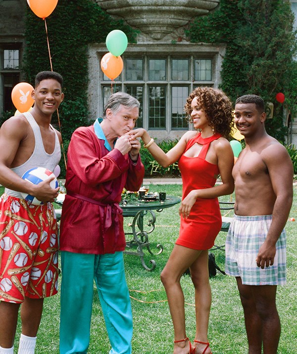 It doesn't get more '90s than this! The *Playboy* founder made loads of TV and film cameos - who could forget his starring role in an episode of *The Fresh Prince of Bel Air*.