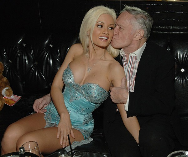 One of the great loves of his life, Holly Madison. They were together from 2001 until 2008.