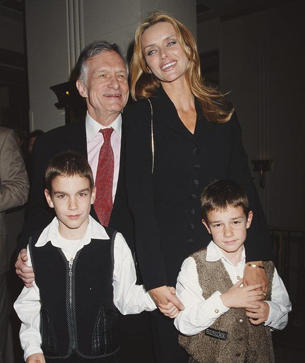 With second wife Kimberley and their two boys.