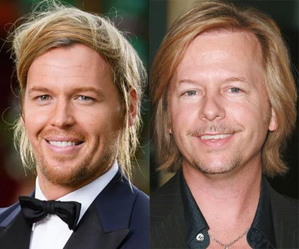 **Sam and...David Spade** We think Sam's a dead ringer for the *8 Simple Rules* and *Rules of Engagement* star. We're not sure he'd agree but hey ho.