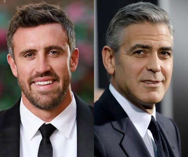 **Luke and... George Clooney** Sophie can't stop comparing Luke to George. We can *kind* of see it. They're both gorgeous regardless...