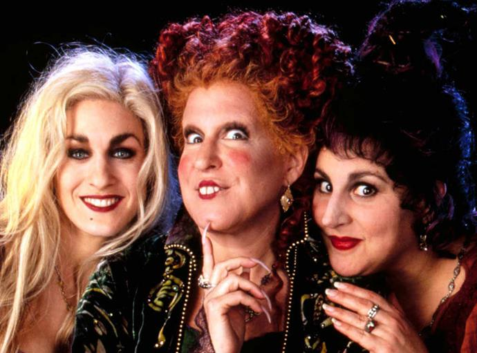 Sarah, Bette and Kathy played the Sanderson witches