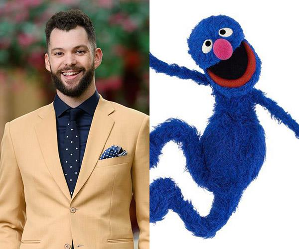 **Hayden and... Grover** Hayden's cute hair floof gives us serious Grover vibes.