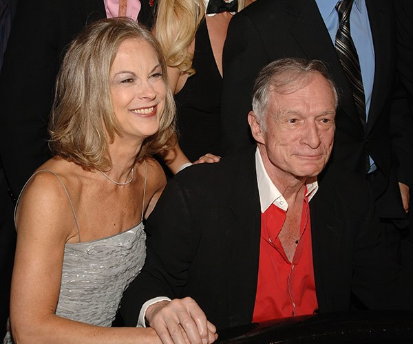 Hef with his only daughter Christie, 64, from his first marriage to  Mildred Williams.